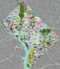 Map Of Columbia List Of Neighborhoods Of The District Of Columbia By Ward