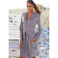 robe de chambre capuche lascana peignoir lascana à capuche femme peignoirs femme