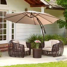 Patio Furniture Umbrella Outdoor Patio Furniture With Cantilever Umbrella Canopy
