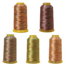 multicolor sewing thread spool cheap industrial polyester sewing