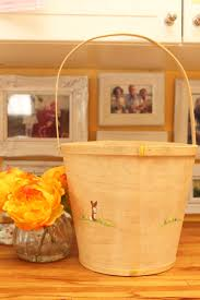 painted easter buckets painted easter basket holder to be personalized for