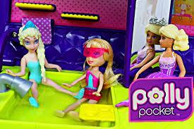polly pocket jet disney frozen elsa magic clip doll barbie