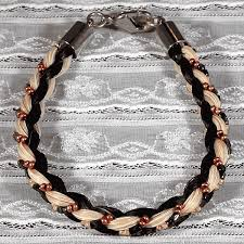 bead braid bracelet images French braid with beads horse hair bracelet gif