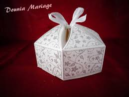 dounia mariage boite gâteau