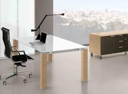 bureau verre design contemporain verre design metal awesome table bureau bois verre plateau ikea