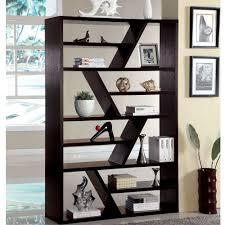 furniture of america emize espresso open display shelf by