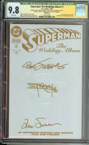 superman the wedding album the wedding album 1 rrp ss cgc q 9 8 signed x3
