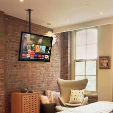 simbr tv ceiling mount bracket tilts swivels and height