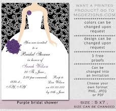 Inexpensive Bridal Shower Invitations Purple Bridal Shower Invitations Badbrya Com