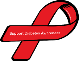diabetes ribbon custom ribbon support diabetes awareness