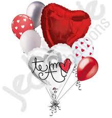 valentines day baloons te amo valentines day balloon bouquet jeckaroonie balloons