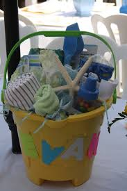 beach baby gift basket great for a baby shower or young toddlers
