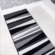 Black And White Striped Runner Rug Appealing Black And White Striped Runner Rug With Rugs Classic