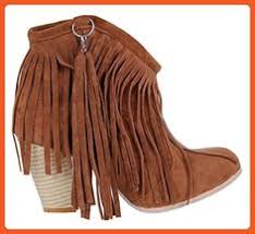 womens size 12 fringe boots high boots up to size 12 5 29 0 cm eu 47 cn 48 s