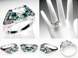 aquamarine wedding vintage style aquamarine wedding rings the wedding