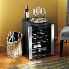 small wine refrigerator stainless steel frame 3 glide out wine