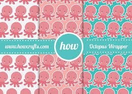 octopus wrapping paper howcrafts marketplace for premium printables