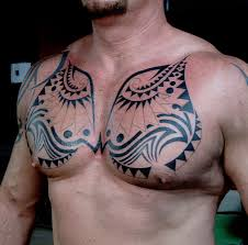 tribal chest tattoo on tattoochief com chest tattoos