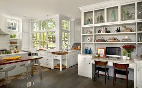 Countertop Desk Ideas Glorious Small Kitchen Desk Ideas With Wood Flooring