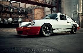 lowered porsche 911 stance works magnus walkers 78schr budget porsche 911sc build