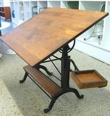Mayline Oak Drafting Table Antique Drafting Tables Foter