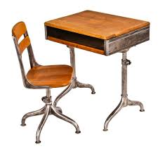Desk With Adjustable Height by Completely Refinished C 1940 U0027s Vintage American Industrial