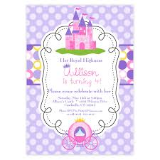 Princess Invitation Card Princess Birthday Invitations