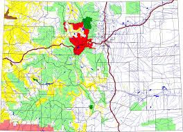 I 70 Colorado Map by Arapaho National Forest Colorado National Lands