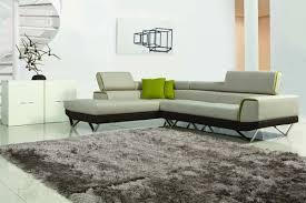Amy Modern Fabric Sectional Sofa W Retractable Headrests - Fabric modern sofa