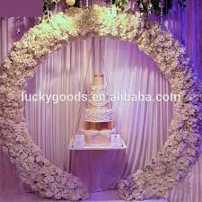wedding arches and columns wholesale hot sale fancy metal garden wedding arch for wedding and event