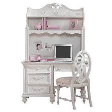 disney princess white 2 pc computer desk and hutch rooms