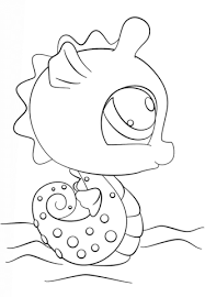 littlest pet shop seahorse coloring free printable coloring