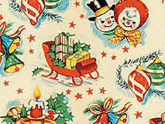reversible christmas wrapping paper reversible christmas vintage wrapping paper set new