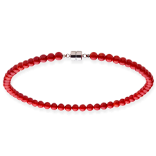 coral bead necklace images Shop sterling silver 8mm red coral bead necklace 18 20 inches jpg