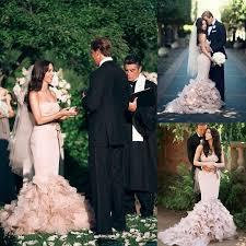 custom made wedding dress blush pink corset wedding dresses 2016 length cascading