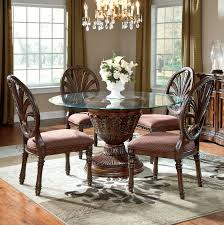 Royal Furniture Living Room Sets Millennium Ledelle 5 Glass Top Table Set With Pierced Oval