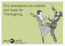 does anyone dress nicely on thanksgiving anymore are we all slobs