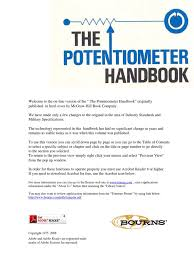 online potentiometer handbook amplifier operational amplifier