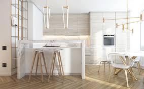 kitchen glamorous light wooden panel cabinet led lighting nice