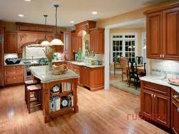 Cherry Kitchen Cabinets With Granite Countertops Kitchen Cabinets Granite Countertops Oak Cabinets And White