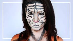 Zebra Halloween Makeup by White Tiger Makeup Tutorial Shelingbeauty Youtube