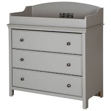 Drawer Change Table South Shore Cotton Changing Table With Drawers Soft Gray