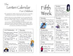 lenten calendar for children the kids u0027 bulletin