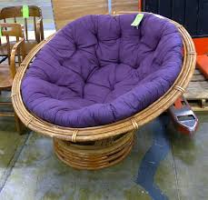 Rattan Papasan Chair Cushion Purple Papasan Chair Home Furnishings Decor