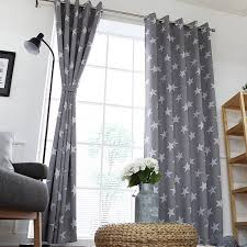 Patterned Blackout Curtains Grey Patterned Blackout Eyelet Curtains By Enapremium
