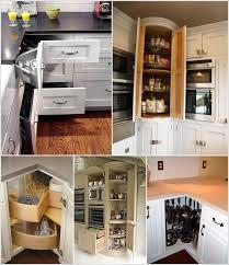 kitchen cabinet corner ideas clever corner kitchen storage ideas