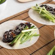 vegetarian chinese pancakes with homemade hoisin sauce amuse