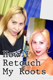 hair color for pinays how i retouch my roots pinay blonde youtube