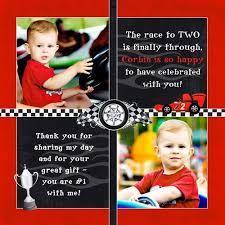 flag car party thank you cards little boy u0027s fun