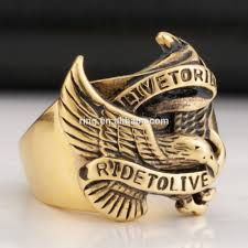 cool gold rings images 2014 super cool gold eagle rings for man stainless steel hot sale jpg